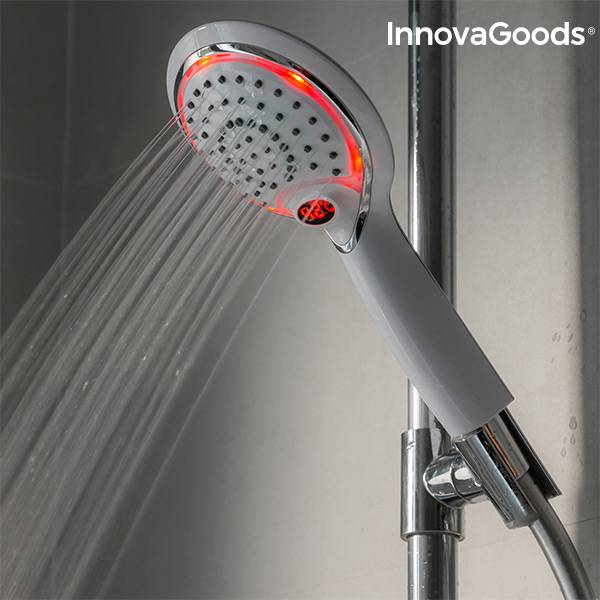 InnovaGoods LED Shower with Temperature Sensor