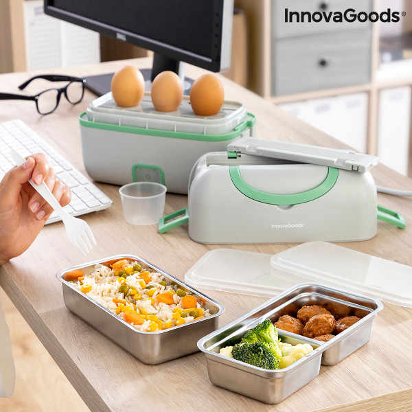 3-in-1 Electric Steamer Lunch Box with Recipes Beneam InnovaGoods