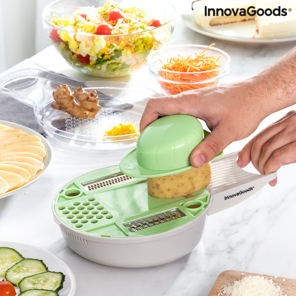 6 in 1 Multifunction Grater-Cutter with Accessories and Recipes Gradder InnovaGoods