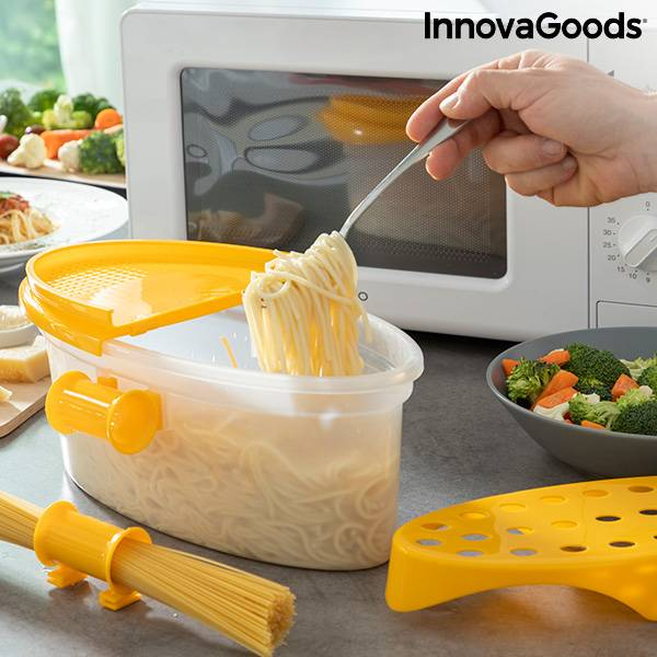 4-in-1 Microwave Pasta Cooker with Accessories and Recipes Pastrainest InnovaGoods