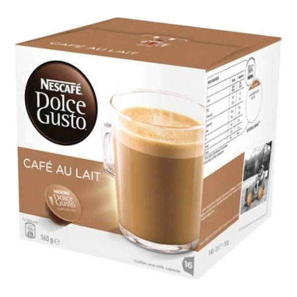 Coffee Capsules Au Lait Dolce Gusto (16 uds)