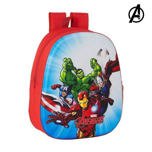 3D Child bag The Avengers Red