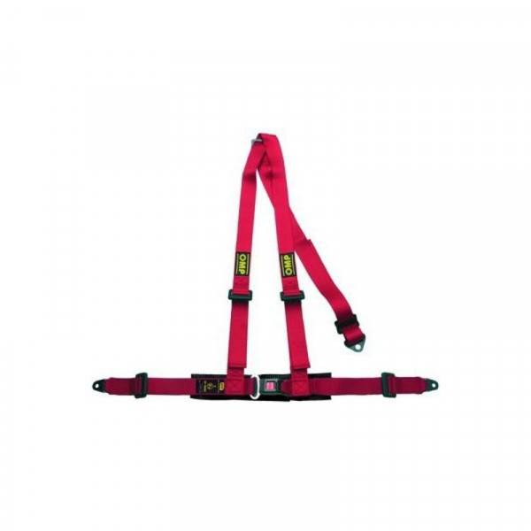 3 Point Attachment Harness OMP Road 3 Red