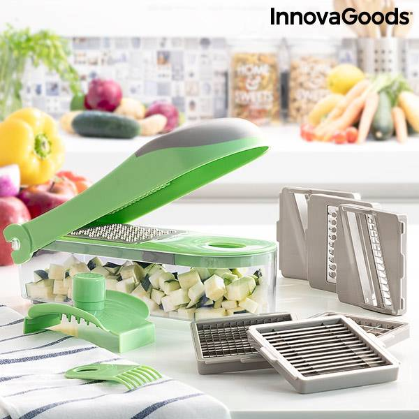 7 in 1 vegetable cutter, grater and mandolin with recipes and accessories Choppie Expert InnovaGoods