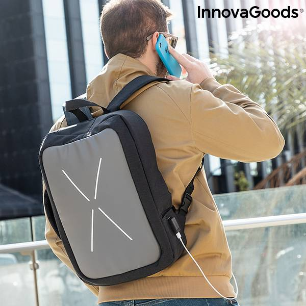 2-in-1 Anti-theft Backpack-Overnight Case Brifty InnovaGoods